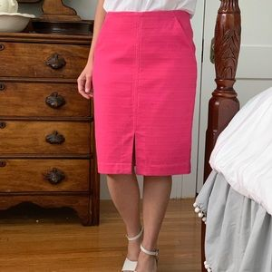 LOFT Pink Pencil Skirt, Size 6